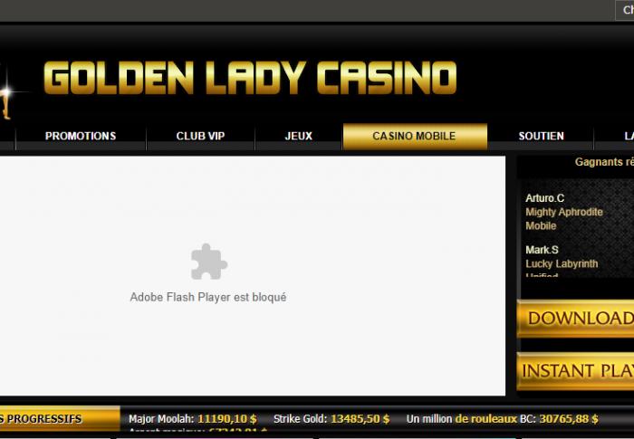 Casino Golden Lady : que vaut-il ?